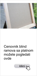 blind ramovi, slikarska platna
